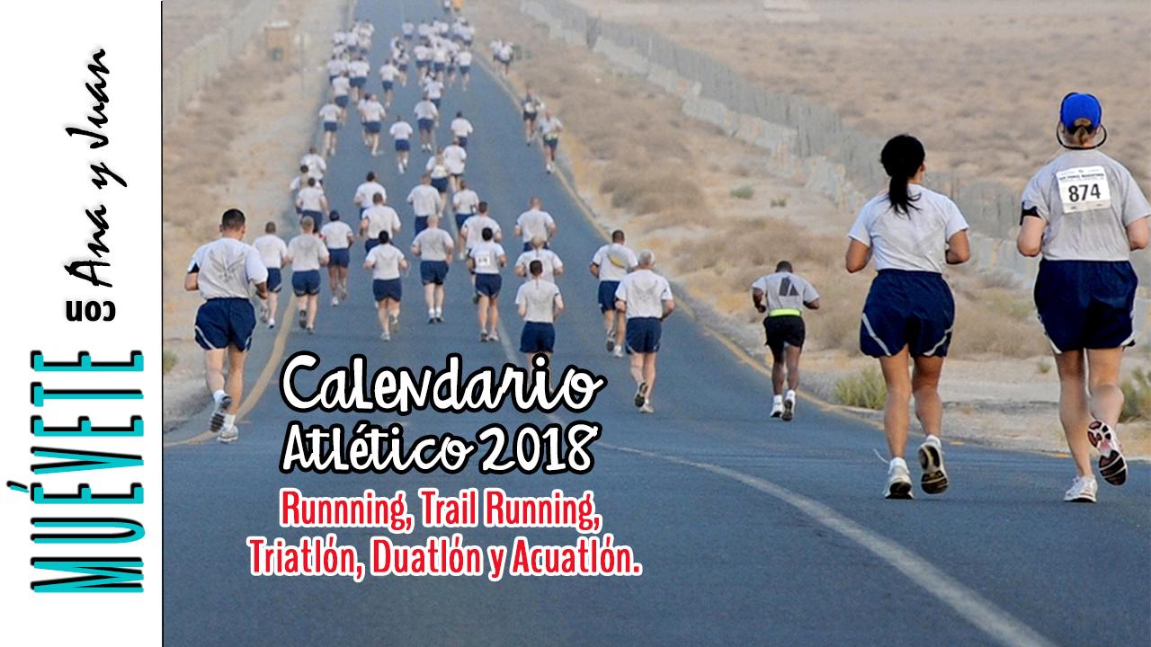 Calendario Running.Calendario Atletico 2018 Carreras Competencias De